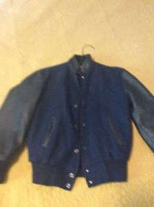 Bedford Blues wool and Leather jacket