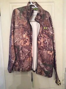 Under armor scent control camo hunting jacket