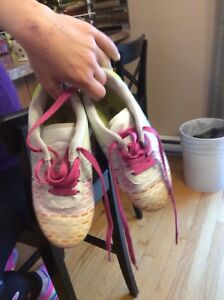 Girls size 12 soccer cleats