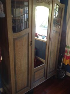 Lead light antique wardrobe Bedford Bayswater Area Preview