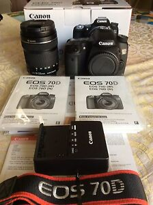 Canon 70d with two lenses