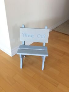 Small wooden time out chair