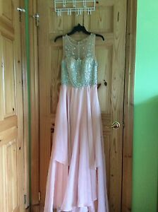 PROM DRESS - SIZE 2 - PINK/NUDE/ALLUSION/SPARKLE