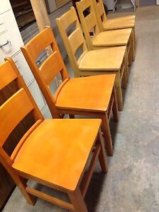 SOLID ADULT WOODEN CHAIRS