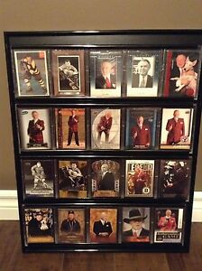 20 Don Cherry NHL Hockey Cards and Frame