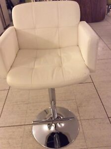 Leather padded with arm chairs,barstool almost new one