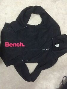 Bench sweater , zipup, black, good condition, size large