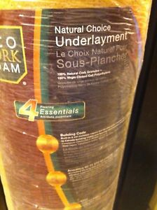 Brand new Natural cork Flooring underlay only $45