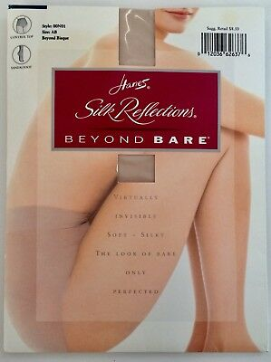 - Hanes Silk Reflections'Beyond Bare'Sandalfoot AB BeyondBisque Bare Legs Perfect