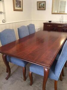Dining table and 6 chairs Blackburn Whitehorse Area Preview