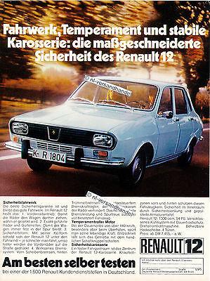 Renault-12-1972-Reklame-Werbung-genuine Advertising - nl-Versandhandel