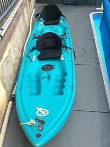 Delta kayak with back rest and paddles Hurstville Hurstville Area Preview
