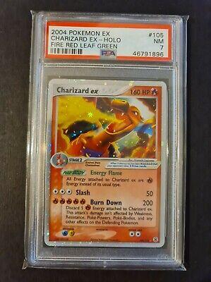 PSA 7 Charizard ex Fire Red Leaf Green FRLG Holo 105 Foil Graded Pokemon Card