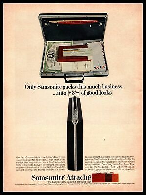 1964 Samsonite Attaché Case Father's Day Gift Business Briefcase Print Ad