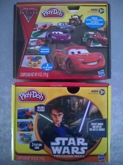 Play Doh x2 Disney Cars II & StarWars CloneWars Brand New Sealed