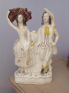 Genuine Antique English Staffordshire Harvest Figurine circa 1870 Bonogin Gold Coast South Preview