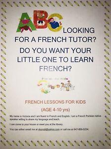 French tutor for children