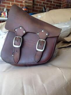Genuine Harley Davidson leather side bag