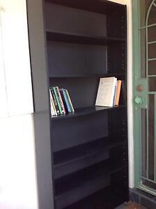 Attractive black melamine bookcase Cremorne North Sydney Area Preview