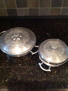 Vintage  Forged Hammered Aluminum Serving Bowls by Everlast