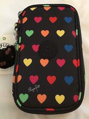 NWT Kipling 50 Pens Case (Wild Hearts) AC8236 0DC