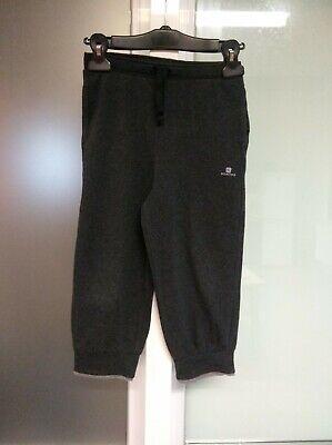 Pantalon 3/4 bouffant sport gris foncé Domyos Taille 10 ans