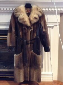 Fur coat 3/4 length size small
