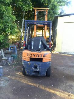 Forklift Run on gas bottle not included Toyota 1'5TON