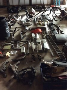 Corvette chrome bumper and hubcap and other parts sale c2 and c3