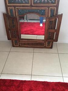Balinese wall mirror in light colour wood Redland Bay Redland Area Preview