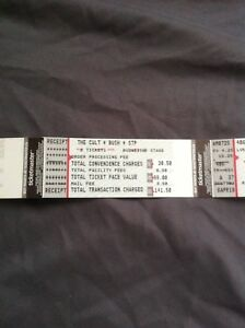 The Cult, Bush and STP tickets