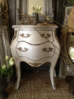 "SOLD P P/U... ""Marie Antoinette"" French Bombè Vintage Bedside Butler Wanneroo Area Preview"