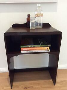 RETRO VINTAGE SOLID TIMBER SMALL SIDE /HALLTABLE /BEDSIDE W/SHELF Seaforth Manly Area Preview