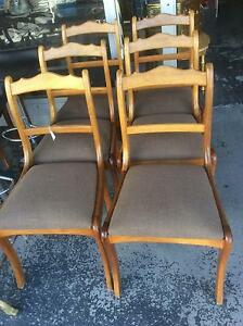 BLACKWOOD DINING CHAIRS SET OF SIX $175 Derwent Park Glenorchy Area Preview