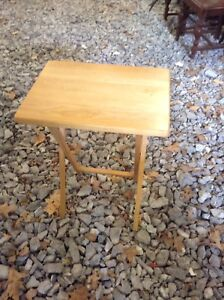Folding side table and blind
