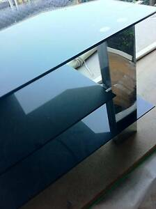 TV STAND ,STRAIGHT ,METAL,SMOKED GLASS 3 SHELVES $50.00 Logan Reserve Logan Area Preview