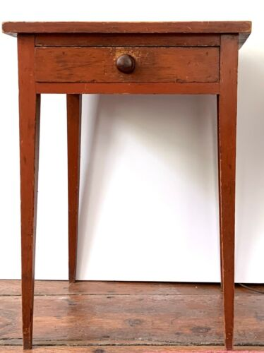 Antique one drawer stand in redwash Berks County PA