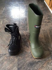 Steel toed boots size 7