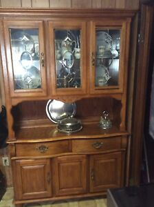 China cabinet and hutch