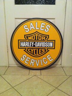 Harley Davidson sales and service reproduction sign Melton West Melton Area Preview