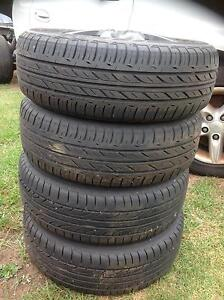 FORD LASER OR 4x100 STUD WHEELS & TYRES Guildford Parramatta Area Preview