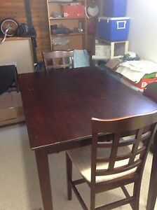 Bar Height Brown Table With 4 Chairs