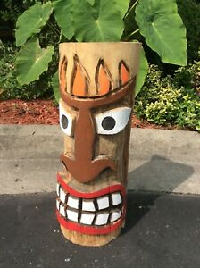Painted chainsaw carved Tiki