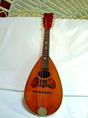Vintage 1900s eight String Bowl Back Mandolin Reconditioned