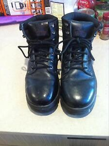 Steel Blue Lace Up steelcap Work Boots Size 5 Edensor Park Fairfield Area Preview