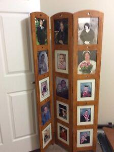 Oak divider photo frame