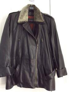 Manteau en vrai cuir, et un de Ski-doo  Choko