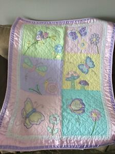 Embroidered Girl's Baby Blanket $10