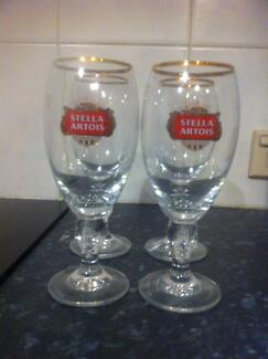 4 x Stella Artois Glasses 250ml Durack Brisbane South West Preview
