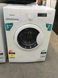FACTORY 2ND HISENSE 7.5KG FRONT LOAD WASHER 1 YR WARRANTY